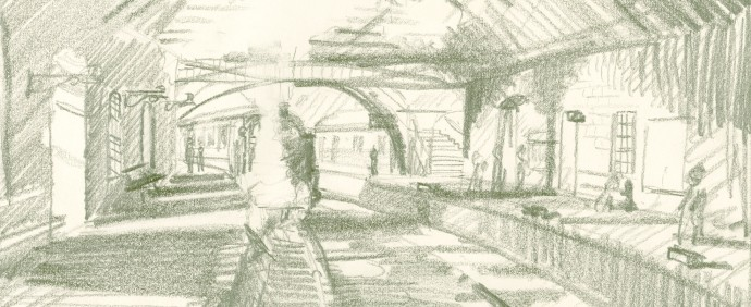 Pickering station sketch