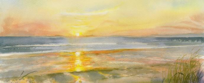 Largo Sunset (50 x 33cm unframed £290)
