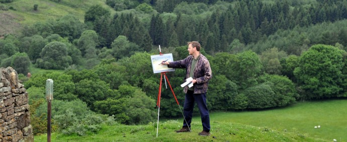 Chris painting above Newtondale