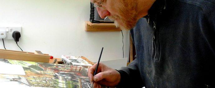 Chris painting Royal Scot